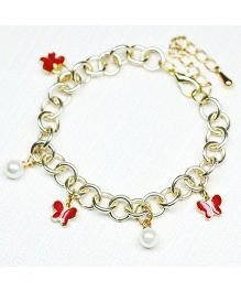 Asthetika Little Butterflies Bracelet - Red & White