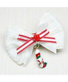 Asthetika X-mas Stocking Charm Hair Clip - Red & White