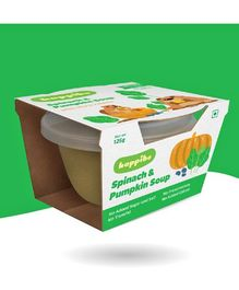 Happibo Spinach & Pumpkin Soup Pack Of 2 - 250 gms