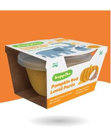 Happibo Pumpkin And Red Lentil Puree Pack Of 2 - 250 gm