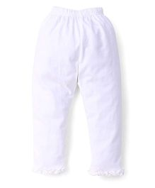 Simply Capri Ruffle Hem - White