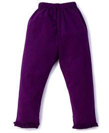 Simply Capri Ruffle Hem - Purple