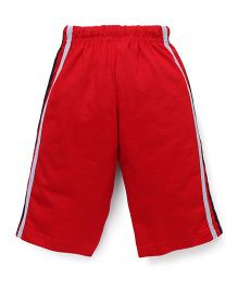 Taeko Three Fourth Pants Bermuda Pants With Side Stripes - Red