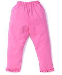 Simply Capri Ruffle Hem - Dark Pink
