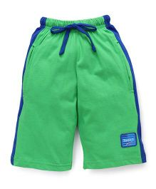 Taeko Three Fourth Bermuda Pants - Green Royal Blue