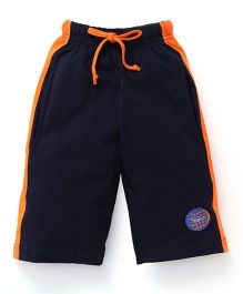 Taeko Three Fourth Bermuda Pants - Navy Orange