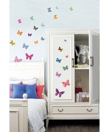 Kidocent Printed Butterflies Wall Decals