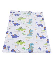 Owen Comforters Dinosure Print Pack of 2 - Blue White
