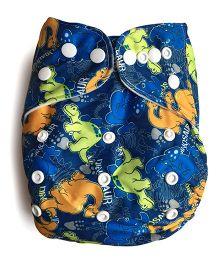 ChuddyBuddy Cloth Diaper With Insert Dreamy Dinosaurs - Blue