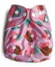 ChuddyBuddy Cloth Diaper With Insert Cupcakes And Ice Cream - Pink