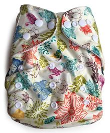 ChuddyBuddy Cloth Diaper With Insert Garden - Beige