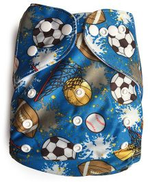 ChuddyBuddy Cloth Diaper With Insert Balls - Blue