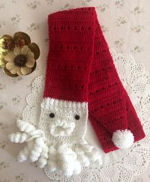 Buttercup From Knittingnani Santa Scarf - Red