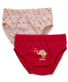Babyhug Panties Pack of 2 -  Dark Pink Peach