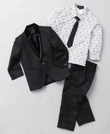 Robo Fry Blazers Shirt Trouser & Tie - Blue & Black