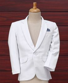 Robo Fry Full Sleeves Party Wear Blazer - White