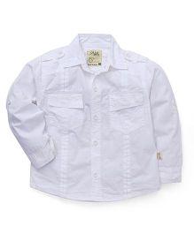 Olio Kids Full Sleeves Solid Shirt - White