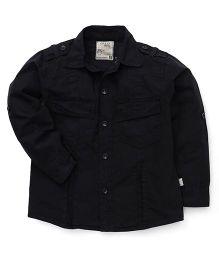 Olio Kids Full Sleeves Solid Shirt - Black