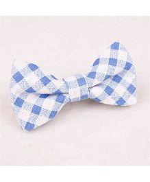 Little Cuddle Plaid Linen Bow Tie - Blue