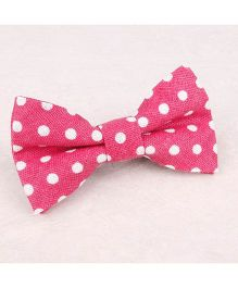Little Cuddle Polka Dot Bow Tie - Pink