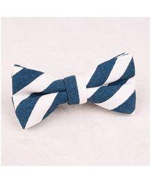 Little Cuddle Stripes Bow Tie - Blue & White