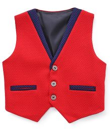 Robo Fry Patery Wear Dotted Waistcoat - Red Blue