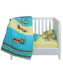 The Button Tree Chuk Chuk Box Cot 5 Piece Set - Multicolour