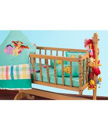 The Button Tree Pooh Pals Cot 5 Piece Set - Multicolour