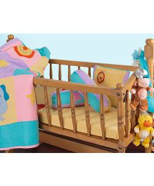 The Button Tree Star Of Jungle Cot 5 Piece Set - Multicolour