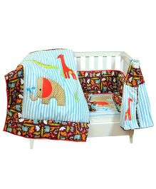 The Button Tree Baby Boo Jungle Safari Cot 7 Piece Set - Multicolour