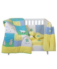 The Button Tree Twinkle Stars Cot 7 Piece Set - Multicolour