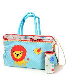The Button Tree Jungle Pals Diaper Bag - Blue