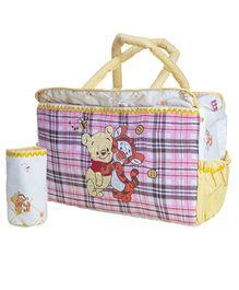 The Button Tree Cartoon Print Diaper Bag - Multicolour