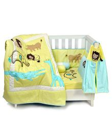 The Button Tree The Animal Lover Cot 7 Piece Set - Yellow