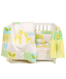 The Button Tree Our Baby Giraffe Cot 7 Piece Set - Multicolour