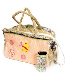 The Button Tree Forest Flower Shine Diaper Bag - Peach
