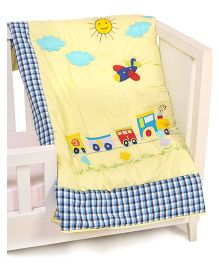 The Button Tree It'S A Fun Ride Baby Quilts - Yellow