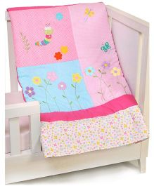 The Button Tree Girlie Garden Baby Quilts - Multicolour