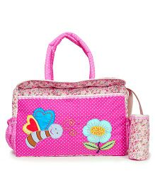 The Button Tree Spring Time Diaper Bag - Pink