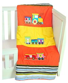 The Button Tree Joy Ride Baby Quilts - Orange & Yellow