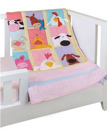 The Button Tree Farm House Buds Baby Quilts - Multicolour