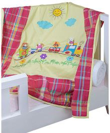 The Button Tree Joy Riders With Pals Baby Quilts Cover - Multicolour