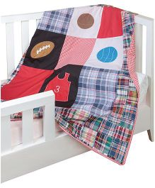 The Button Tree Sporty Boy Baby Quilts Cover - Multicolour