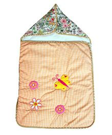 The Button Tree Forest Flower Shine Sleeping Bag - Peach & Multicolour