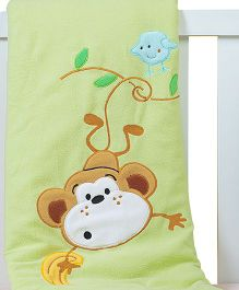 The Button Tree Swing Along Baby Blankets - Multicolour