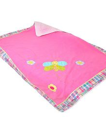 The Button Tree Spring Time Baby Blankets - Pink