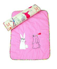 The Button Tree Rabbit Floss Baby Mats Sets - Pink