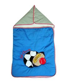 The Button Tree Lil Champ Sleeping Bag - Blue & Green