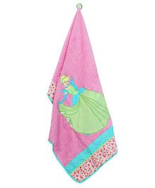 The Button Tree Princess Towel - Pink