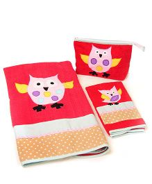 The Button Tree Owlo 3 Piece Towel Sets - Multicolour